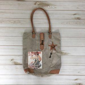 Vintage style shoulder tote bag